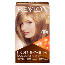 Revlon ColorSilk Beautiful Color 3D Color Gel Technology Permanent + No Ammonia 61 Blond Foncé