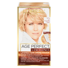 L'Oréal Paris Excellence Age Perfect Crème Colorante Nuancée Permanent 9 N Blond Clair Naturel