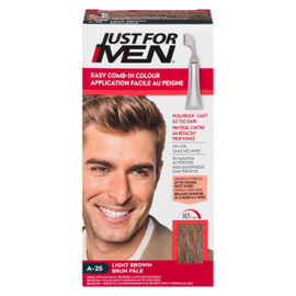Just for Men Ensemble à Application Unique Application Facile au Peigne Brun Pâle A-25 35 g