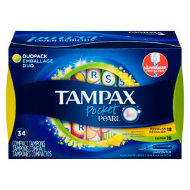 Tampax Pocket Pearl Tampons Regulier Super Non Parfumes Emballage DUO