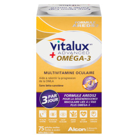 Vitalux Advanced Oméga-3 Multivitamine Oculaire 75 Gélules Molles Faciles à Avaler