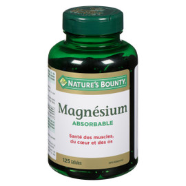 Nature's Bounty Magnésium Absorbable 125 Gélules