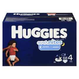Huggies Overnites COUCHES 4 10-17 Kg 68 COUCHES