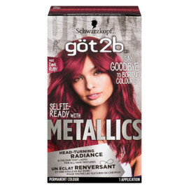 Schwarzkopf Göt2b Metallics Permanent Colour M68 Dark Ruby