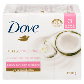 Dove Purely Pampering Pain de Beauté Lait de Coco 3 Pains x 106 g
