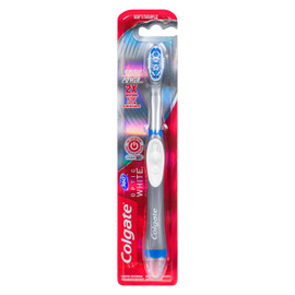 Colgate 360° Optic White Brosse à Dents Alimentée Souple