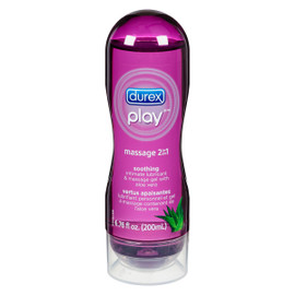 Durex Play Massage 2 en 1 Lubrifiant Personnel et Gel à Massage Contenant de l'Aloe Vera 200 ml