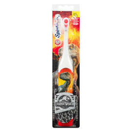 Arm & Hammer Kid's Spinbrush Jurassic World Douce 1 Brosse à Dents à Piles