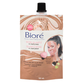 Bioré Masque Anti-Stress à l'Argile Quartz Rose + Charbon 50 ml