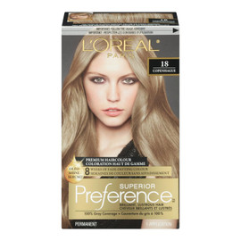 L'Oréal Paris Superior Preference Coloration Haut de Gamme Permanent 18 Copenhague Blond Moyen Cendré