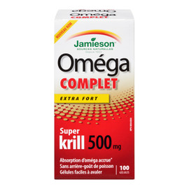 Jamieson Oméga Complet Extra Fort Super Krill 500 Mg 100 GÉLULES