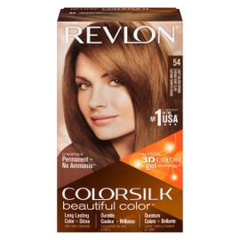 Revlon ColorSilk Beautiful Color 3D Color Gel Technology Permanent + No Ammonia 54 Châtain Doré Clair