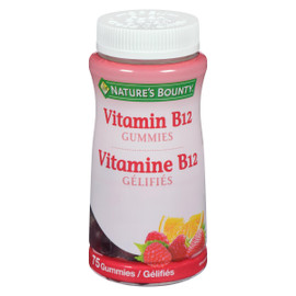Nature's Bounty Vitamine B12 Gélifiés 75 Gélifiés