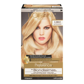 L'Oréal Paris Superior Preference Les Blondissimes Coloration Haut de Gamme Permanent LB02 Blondissime Blond Ultra Clair Naturel