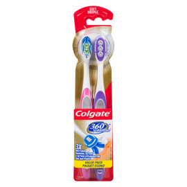 Colgate 360° Surround Souple Paquet Écono 2 Brosses à Dents
