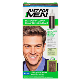 Just for Men Ensemble à Application Unique Shampooing Colorant Brun Pâle Moyen H-30