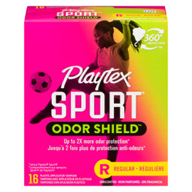 Playtex Sport Tampons Plastique Reguliere Non Parfumes Protection ANTI-ODEURS