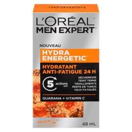 L'Oréal Paris Men Expert Hydra Energetic Hydratant Anti-Fatigue 24 H Guarana + Vitamine C 48 ml