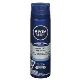 NIVEA Men Protect & Care Hydratant Gel à Raser avec Aloe Vera 198 g