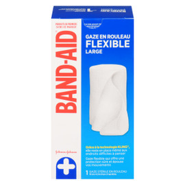 Band-Aid Gaze en Rouleau Flexible Large 1 Gaze Stérile en Rouleau