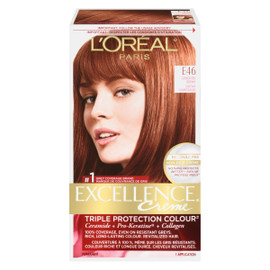 L'Oréal Paris Excellence Creme Triple Protection Colour Permanent E46 Châtain Cuivré Rouge