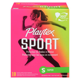 Playtex Sport Super 18 Tampons avec Applicateur en Plastique