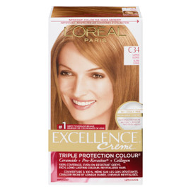 L'Oréal Paris Excellence Creme Triple Protection Colour Permanent C34 Blond Cuivré
