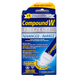 Compound W Freeze Off Système de Traitement Anti-Verrues Avancé 15 Traitements