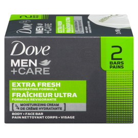 Dove Men+Care Pain Nettoyant Corps + Visage Fraîcheur Ultra 2 Pains x 106 g