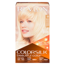 Revlon ColorSilk Beautiful Color 3D Color Gel Technology Permanent + No Ammonia 03 Blond Soleil Ultraclair