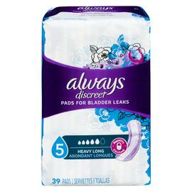 Always Discreet 39 Serviettes Maximale LONGUES