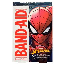 Band-Aid Pansements Adhésifs de Marque Marvel Ultimate Spider-Man 20 Pansements Assortis