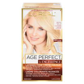 L'Oréal Paris Excellence Age Perfect Crème Colorante Nuancée Permanent 10 N Blond Très Clair Naturel