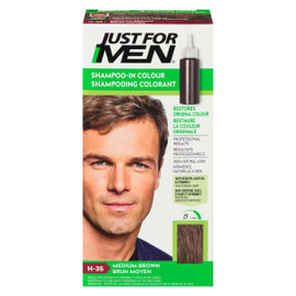 Just for Men Ensemble à Application Unique Shampooing Colorant Brun Moyen H-35