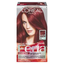 L'Oréal Paris Féria Power Red Couleur Vibrante Haute Intensité Permanent R57 Auburn Moyen Intense