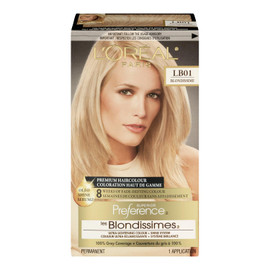 L'Oréal Paris Superior Preference Les Blondissimes Coloration Haut de Gamme Permanent LB01 Blondissime Blond Ultra Clair Cendré