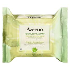 Aveeno Active Naturals Positively Radiant LINGETTES Démaquillantes 25 LINGETTES