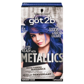 Schwarzkopf Göt2b Metallics Permanent Colour M67 Blue MERCURY