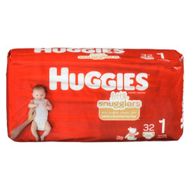 Huggies Little Snugglers Couches 1 Jusqu'à 6 kg 32 Couches