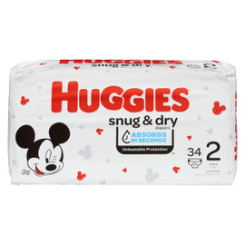 Huggies Snug & Dry Couches 2 5-8 kg 34 Couches