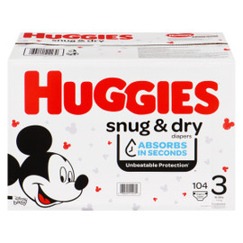 Huggies Snug & Dry Couches 3 7-13 kg 104 Couches