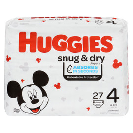 Huggies Snug & Dry Couches 4 10-17 kg 27 Couches