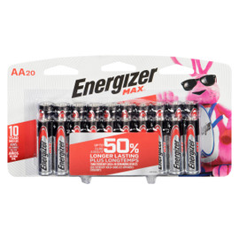 Energizer Max +Powerseal Piles Alcalines AA20