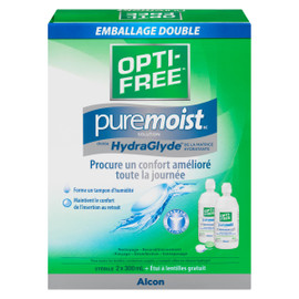 Opti-Free Puremoist Solution Emballage Double 2 x 300 ml