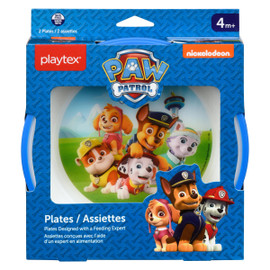 Playtex Paw Patrol Assiettes 4 M+ 2 Assiettes