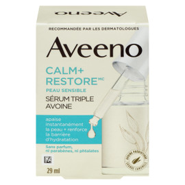 Aveeno Calm+Restore Sérum Triple Avoine Peau Sensible 29 ml