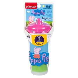 Playtex Peppa Pig Sipsters Verre Isolant Antifuites avec Bec Étape 3 12 m+ 1 Verre 266 ml