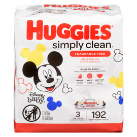 Huggies Simply Clean 3 Paquets x 64 (192 Lingettes)