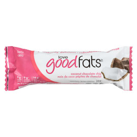 Love Good Fats Barres Collations Noix de Coco Pépites de Chocolat 39 g
