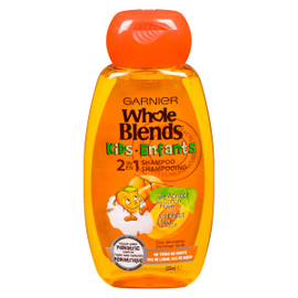 Garnier Whole Blends Enfants 2 en 1 Shampooing à l'Abricot et Fleur de Coton 250 ml
